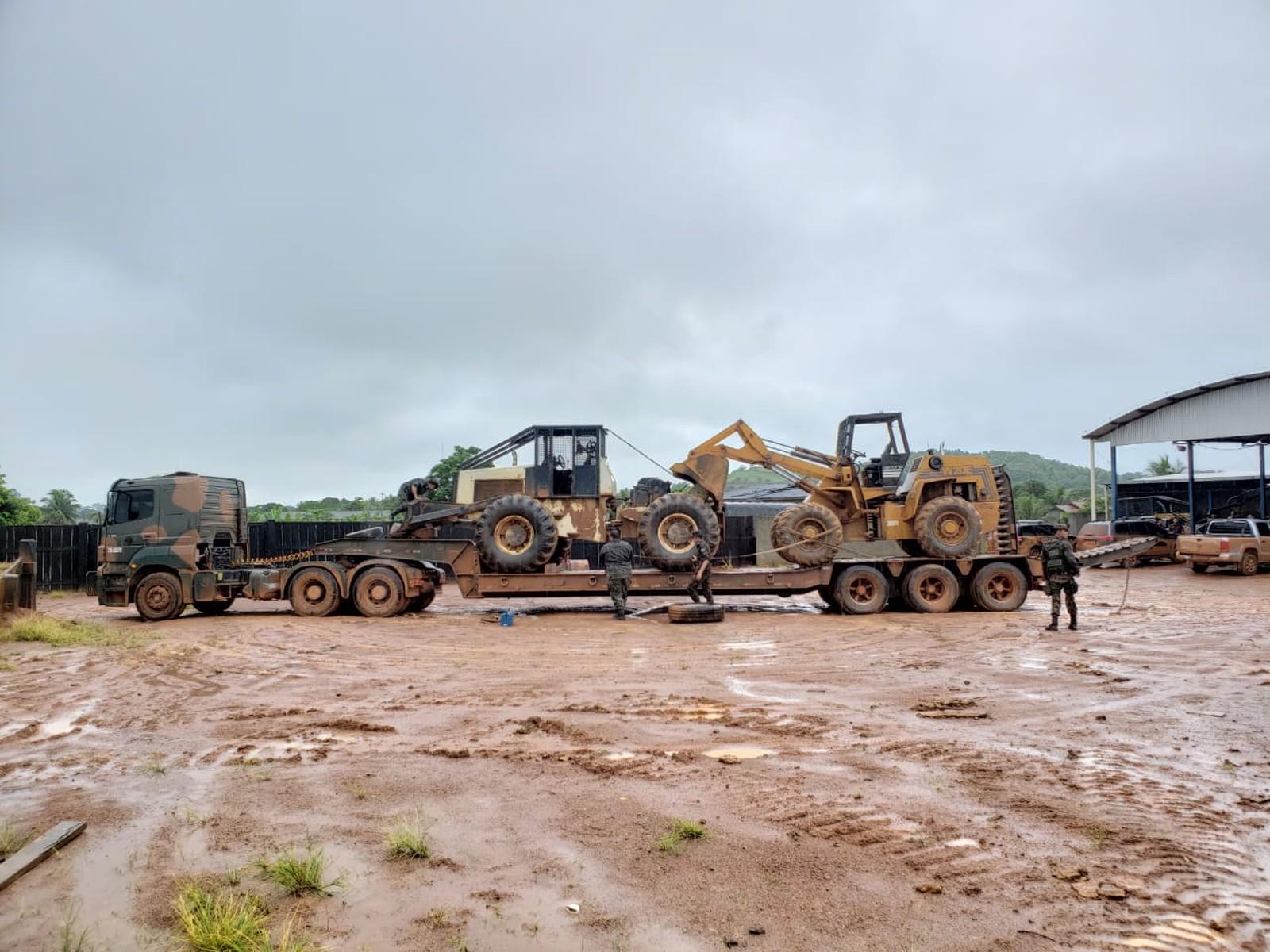 Logging machinery seized near Karipuna Indigenous Land in Brazil